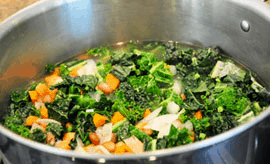 Delicious Kale and Pinto Bean Soup