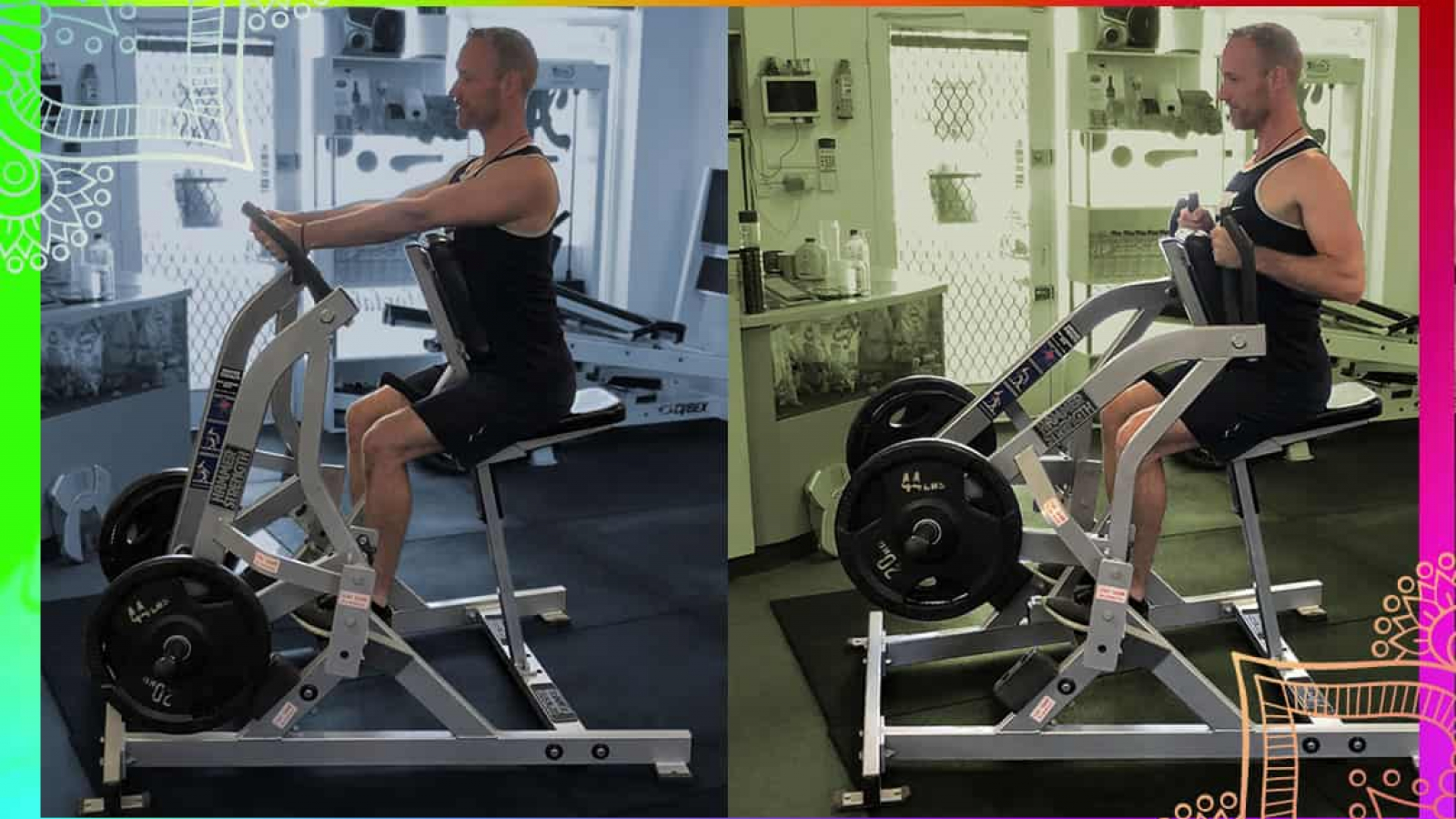 Demonstration of the seated row