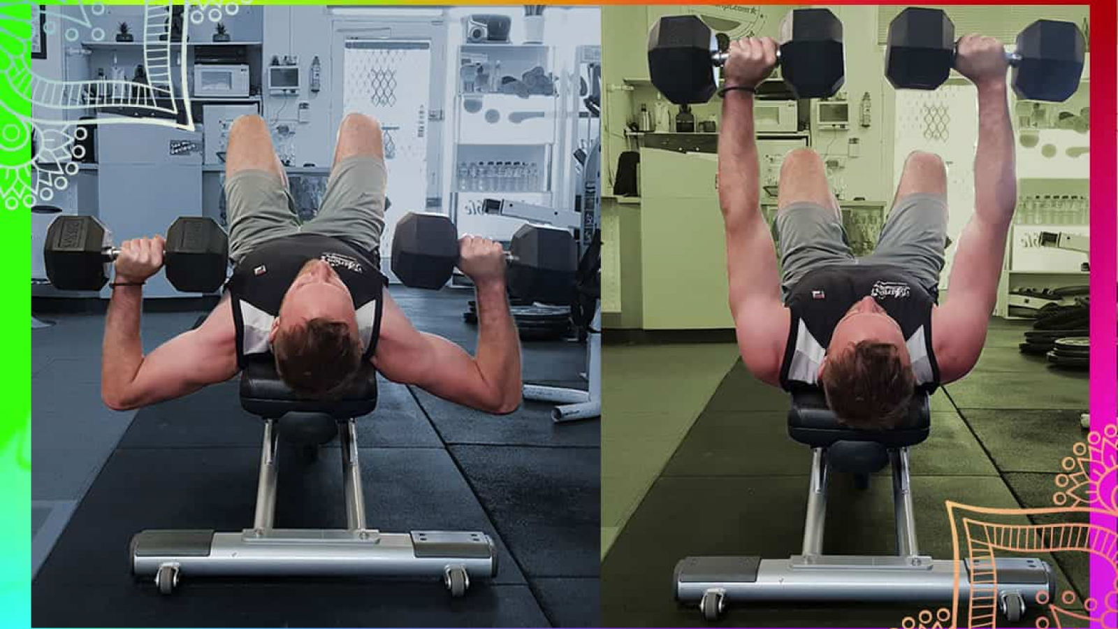 demonstration of the bench press