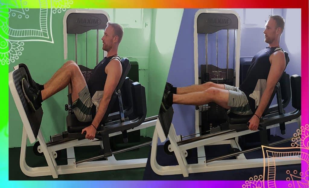demonstration of the leg-press