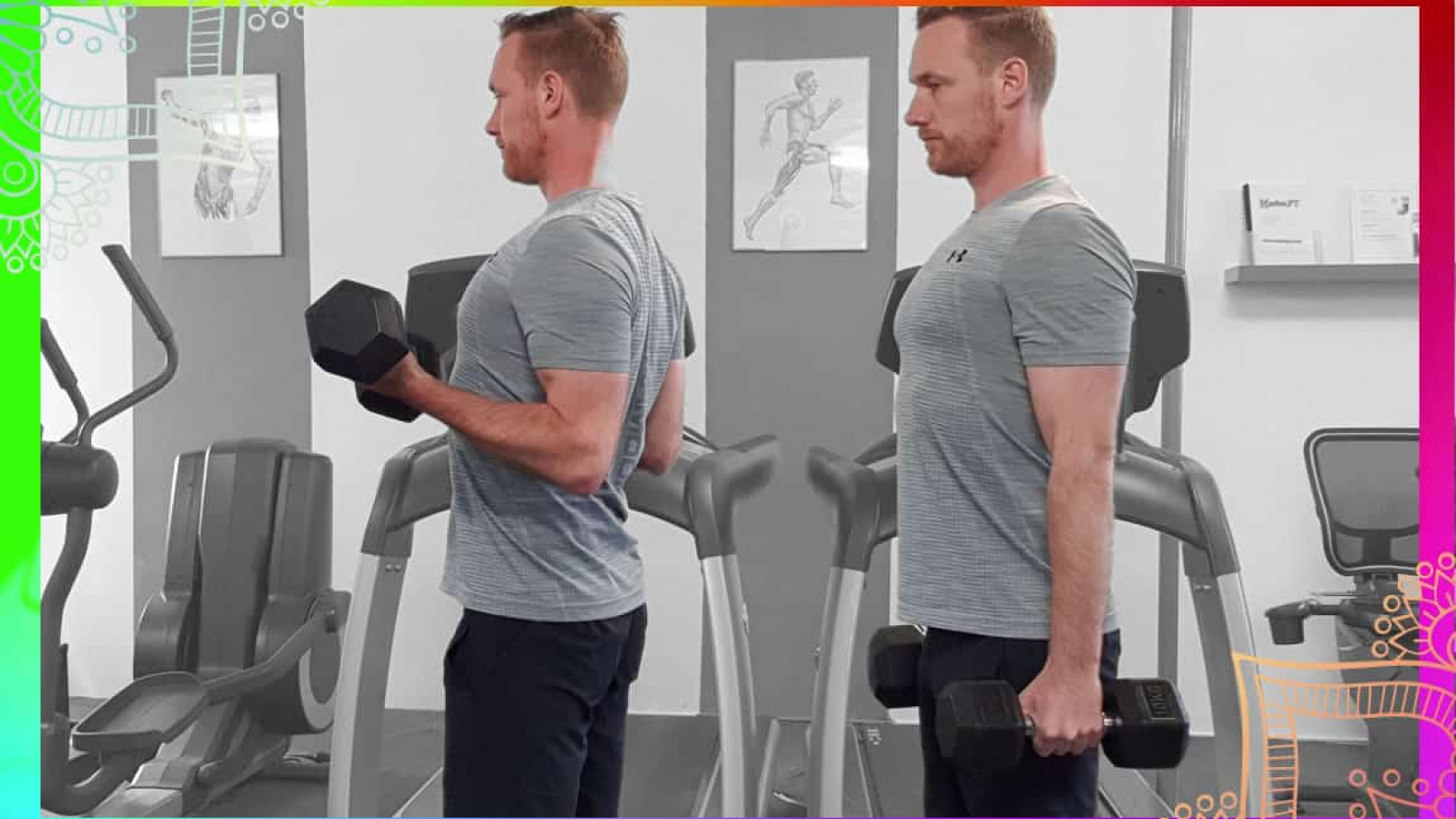 demonstration of Bicep curl