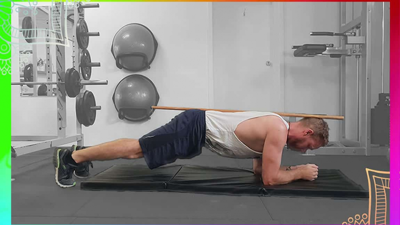 demonstration of plank exercise