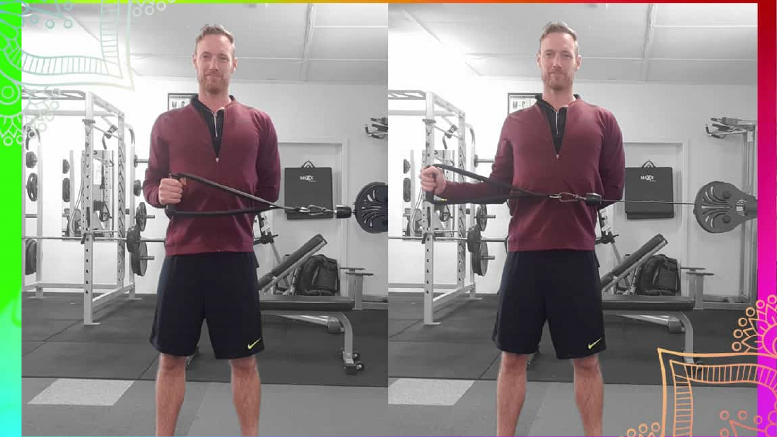 demonstration of the external rotation