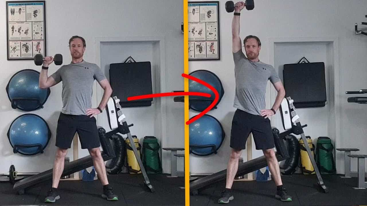Single arm standing shoulder press